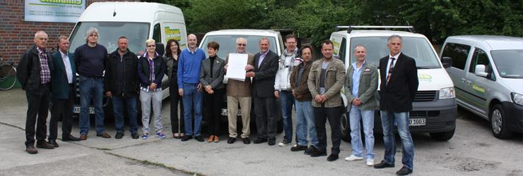 40-jähriges Betriebsjubiläum der Firma Günther Oltmanns